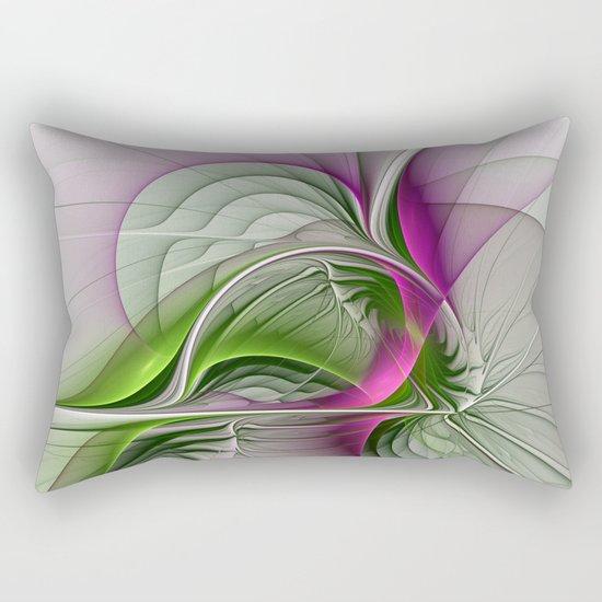 Wild Beauty, Abstract Fractal Art Rectangular Pillow
