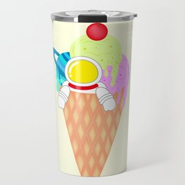 Space Odyssey Ice Cream | Astronaut Ice Cream | Space Ice Cream | Galaxy Ice Cream | pulps of wood Travel Mug