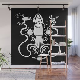 Gargantuan Space Squid Danger Imminent Wall Mural