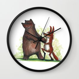 Bear & Fox Wall Clock