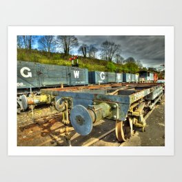 Conflat Wagon Art Print