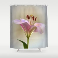lily Shower Curtains featuring Lily by Brian Raggatt