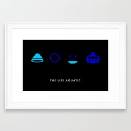 The Life Aquatic, Four Icon Challenge Framed Art Print