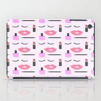 makeup iPad Cases featuring Makeup Pattern by adorkible