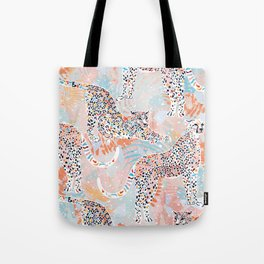 Colorful Wild Cats Tote Bag