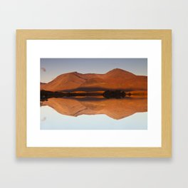 Reflections at Lochan na h-Achlaise, Scotland Framed Art Print