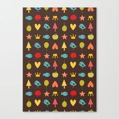 Happy pattern Canvas Print