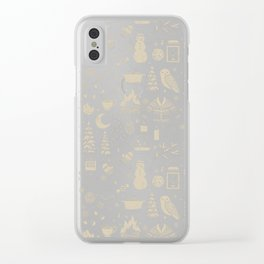 Winter Nights: Forest Clear iPhone Case