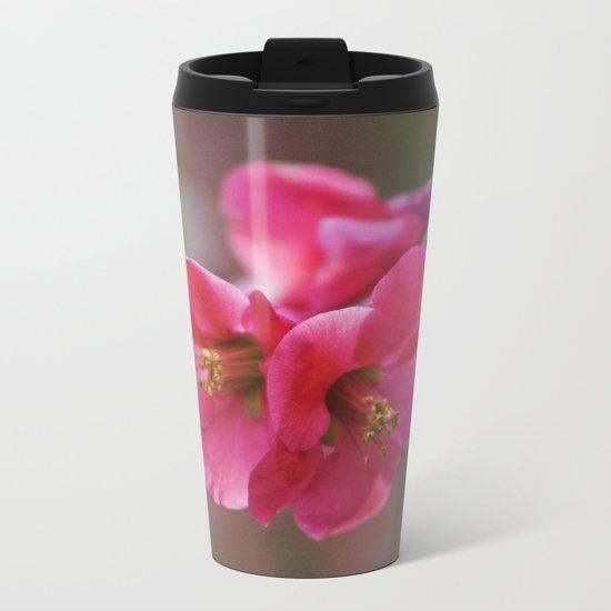 Two Flowers Metal Travel Mug