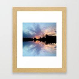 Sunset Brushstrokes Framed Art Print
