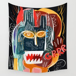 Street art I'm not scared Wall Tapestry