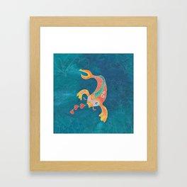 Breathing Love - Goldfish, Koi, Hearts Framed Art Print
