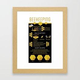 Keeping Bees Framed Art Print