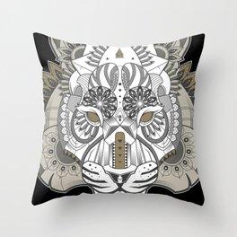 Zentangle Tiger 02  Throw Pillow