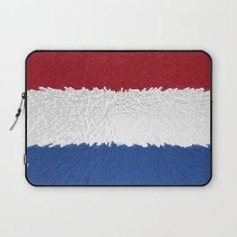 Extruded flag of the Netherlands Laptop Sleeve