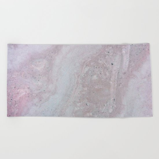 Elegant Pink Polished Marble Beach Towel