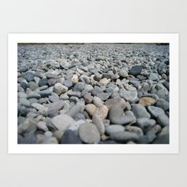 Stones at the Lake Art Print