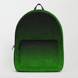Green & Black Glitter Gradient Backpack