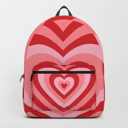 70s psychedelic pink heart Backpack