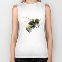 Bumblebee, bee art flying bee design honey bee wildlife Biker Tank