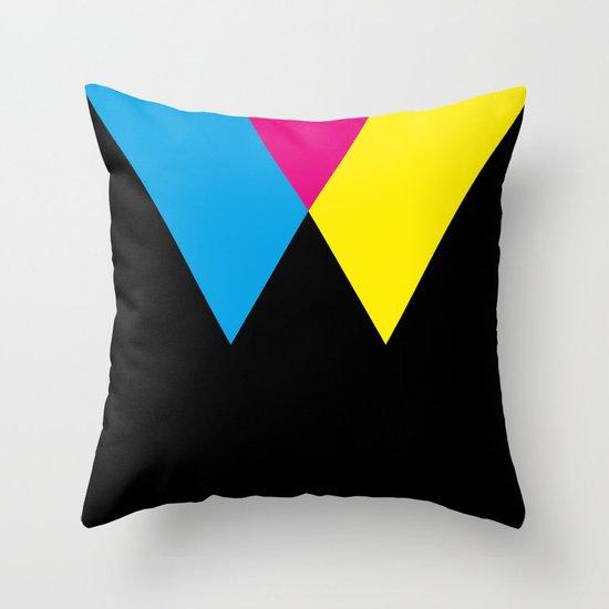 W like W Throw Pillow