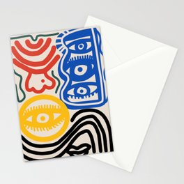 Candid man Stationery Cards
