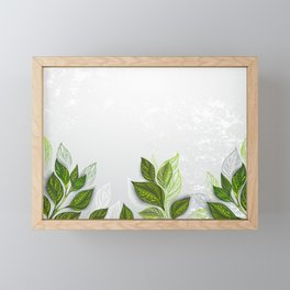 Background with Tea Plants Framed Mini Art Print