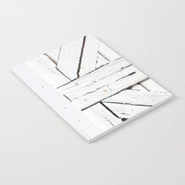 Art Deco White Wooden Gate Notebook