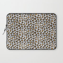 Leopard Print - Bg White Laptop Sleeve