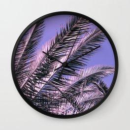 Palms 10 (Violet/Pink) Wall Clock