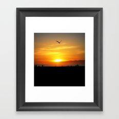 Venice Beach Flying Through the Sunset Framed Art Print