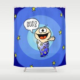 "Baby ""Hi!"" Shower Curtain"