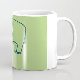Elephant olive blue Coffee Mug