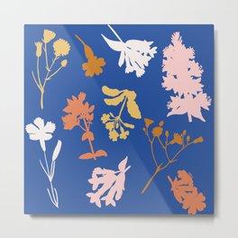 Wild Flower Silhouettes Metal Print