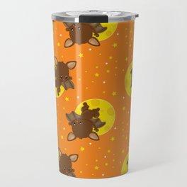 Bat Neck Gaiter Brown Bats Neck Gator Travel Mug