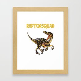 Raptor Squad Framed Art Print