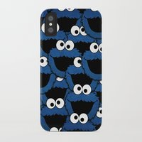 cookie monster iPhone & iPod Cases featuring Cookie Monster  by aldarwish