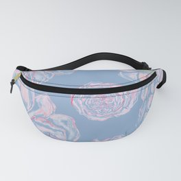 Abstract Flowers Blue #society6 #buyart Fanny Pack