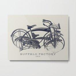 BUFFALO FACTORY Vintage Bicycle Metal Print