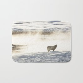 Yellowstone National Park - Wolf and Hot Spring Bath Mat