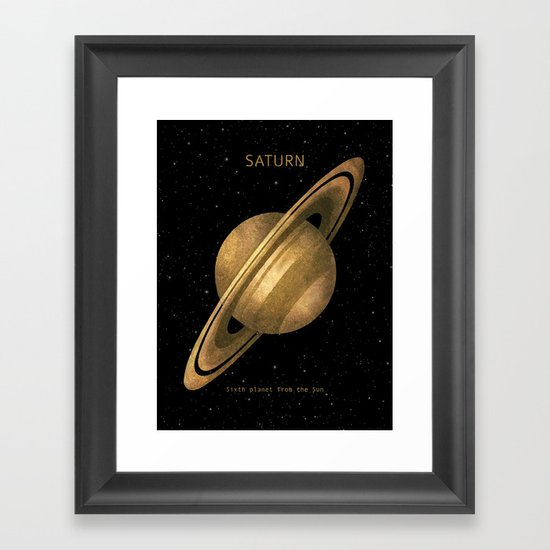 Saturn Framed Art Print