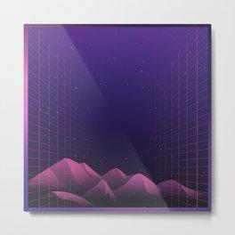 Simple Retro Futurism Metal Print
