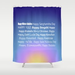 Happy Holidays Sunrise Shower Curtain
