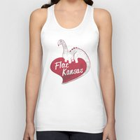 kansas Tank Tops featuring Flat Kansas by Snorting Pixels