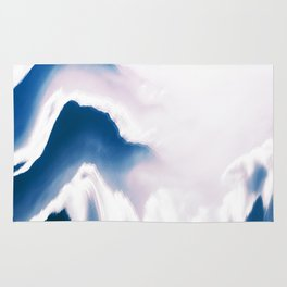 Distorted Blue Mountains I Rug