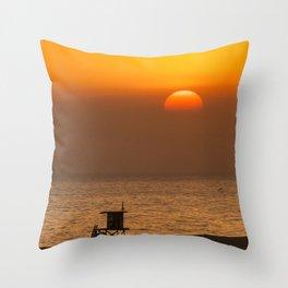 Sunset at Tower P Throw Pillow