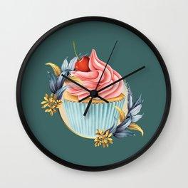 Cupcake Wall Clock