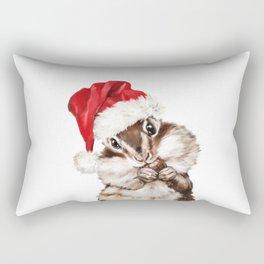 Christmas Squirrel Rectangular Pillow