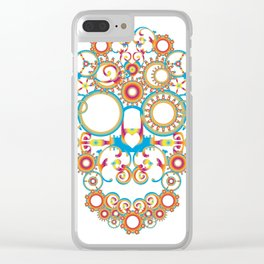 00 - STEAMPUNK SKULL Clear iPhone Case