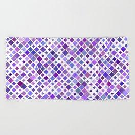 Purple Squared Beach Towel